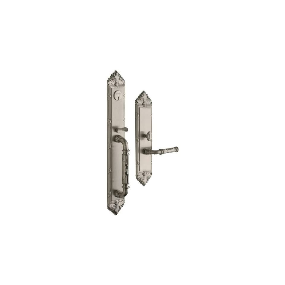 Baldwin 6952.LDBL Edinburgh Left Hand Double Cylinder Mortise Handleset Trim Set, Satin Nickel