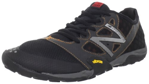 New Balance Men's MT20v1 Minimus Trail Running Shoe,Black/Orange,12 D US
