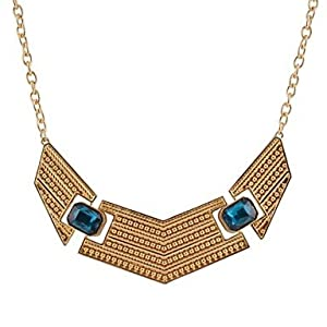 Amazon.com: Collares Mujer Vintage Jewelry Shiny Charm Blue& Red Semi