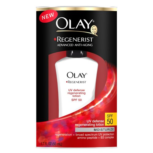 Olay Regenerist Advanced Anti-Aging UV Defense Regenerating Lotion, SPF 50, 1.7 Ounce