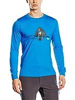 Izas Camiseta Manga Larga Nordent (Azul / Gris Oscuro)