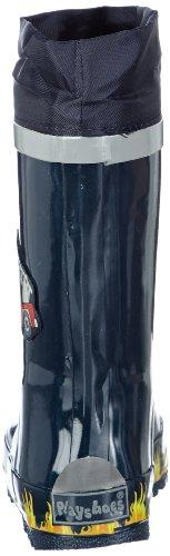 Playshoes Gummistiefel Feuerwehr aus Naturkautschuk, mit Reflektor 188590, Jungen Gummistiefel, Blau (original 900), EU 28/29 -