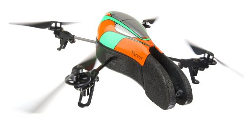 Parrot AR.Drone Quadricopter Controlled by iPod touch, iPhone, iPad, and Android Devices (Orange/Green)