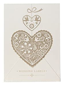 K TWO Wedding Sticky Labels - White