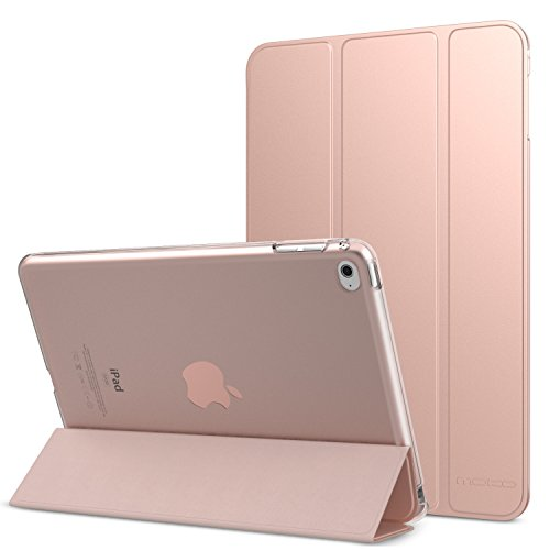 iPad Mini 4 Case - MoKo Ultra Slim Lightweight Smart-shell Stand Cover with Translucent Frosted Back Protector for Apple iPad Mini 4 7.9 inch 2015 Release Tablet, Rose GOLD (with Auto Wake / Sleep) (Stand Ipad 4 compare prices)