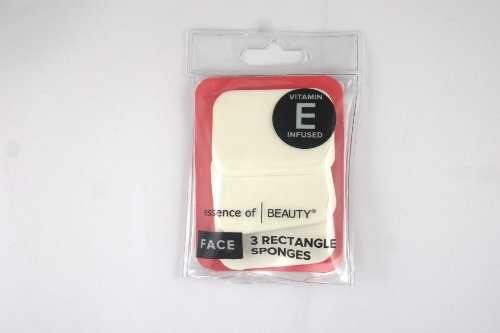 Essence Of Beauty Face 3 Rectangle Sponges Vitamin E Infused