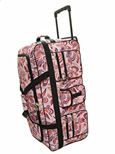Wheeled Holdall 30 inch Floral Luggage Bag on Wheels 605FP