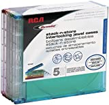 Discwasher RD1609 Stack-n-store CD Jewel Cases (5-pk)