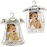 BABY BOY GIRL PHOTO FRAME PICTURE SILVER PLATED DRESS SUIT FREE STANDING HANGING (BABY BOY)
