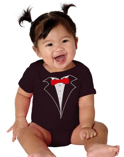Infant Baby Tuxedo One Piece in Black