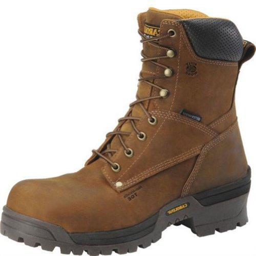 "Men'S Carolina® 8"" Waterproof Broad Toe Safety Toe Loggers, Copper, 10.5"