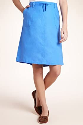 Pure Linen Knee Length Beach Skirt [T54-4271-S]