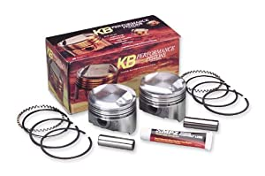 2007 Harley Davidson FLHT Electra Glide Standard Cast Piston Kit (103ci., Flat Top) - .010in. Oversize to 3.885in., 10:1 Compression, Manufacturer: KB Performance, TC96 PISTONS .010 KB 10:1 CST