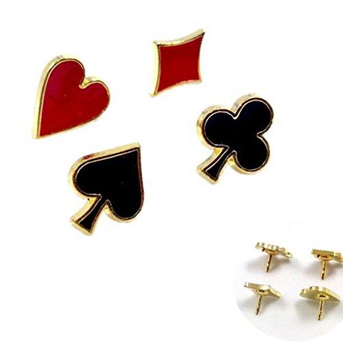 4x Unisex Spilla Poker Spille Fiore Collare Pin Arredamento Modello Breastpin