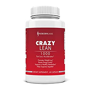 Crazy Lean | #1 Best Recommended Rapid Fat Burner | Speed Up Weight Loss & Attack Stubborn Fat | Alpha & Beta Receptor Activation Technology | With Caffeine, Synephrine, Yohimbe, Picamilon, Inositol, & More! | Highly Effective Weight Loss Supplement | Potent & Synergistic Ingredients | Appetite Suppressant | Energy & Libido Enhancer | Mood Enhancer | For Men & Women | Safe & Effective