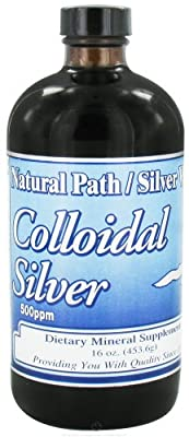 Natural Path Silver Wings Dietary Mineral Supplement, Colloidal Silver, 500 Ppm, 16oz