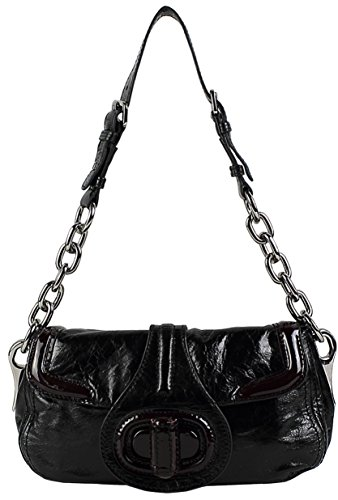 Lush Leather Wrapped Turnlock Shoulder Bag