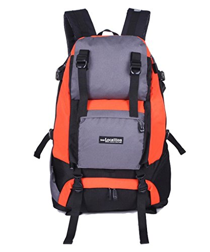 Zerd Outdoor Waterproof Nylon Mountaineering Camping Travel Backpack Trekking Bag 40L Orange front-204621