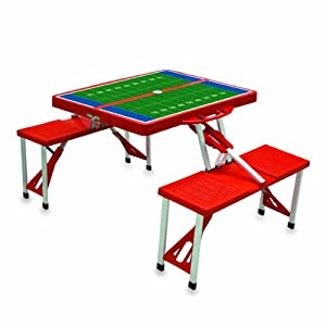Picnic Time Football Field Design Portable Folding Table/Seats