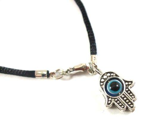 Hamsa Hand Kabbalah Black String Bracelet Evil Eye