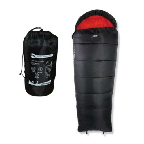 Milestone Camping Mummy Sleeping Bag - Black