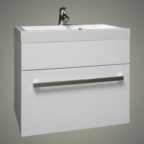 Nice White Square Basin Wall Hung Bathroom Furniture Drawer Vanity Unit X