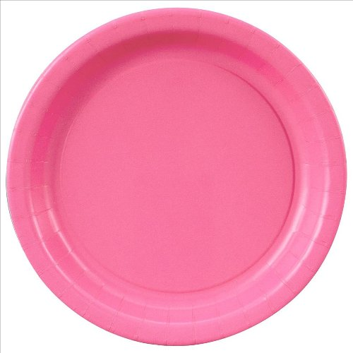 "9"" Hot Pink Paper Plates : package of 16"