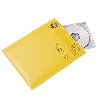 ロアス CD&DVD郵送用封筒(10枚組) イエロー CD-602-10