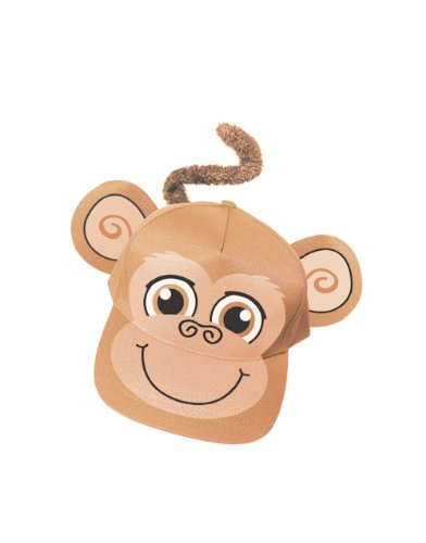 Adults Kids Adjustable Brown Monkey Animal Zoo Baseball Cap Costume Hat