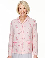 Floral Quilted Bed Jacket