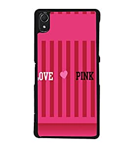 printtech I Love Pink Back Case Cover for Sony Xperia Z2 , Sony Xperia Z2 L50W D6502 D6503