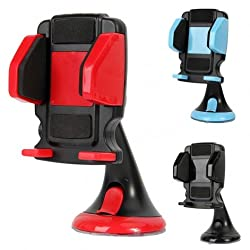 JHD 12HD58 Universal Stretch Mobile Phone Car Holder Stand with Suction Cup for iPhone 5 5C 5S 4 4S Samsung HTC Sony Blackberry Nokia etc(SKYBLUE)