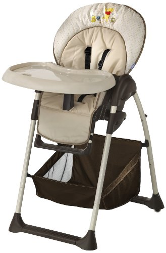 Disney Baby Pooh Doodle Sit 'n' Relax Highchair (Brown)