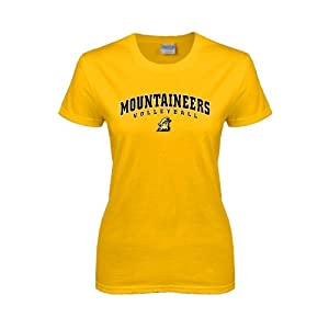 Appalachian State Ladies Gold T-Shirt-Small, Mountaineers Volleyball