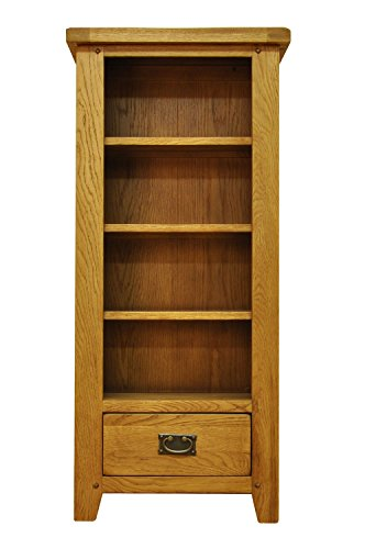 buxton-oak-1-drawer-dvd-cd-storage-rack-in-waxed-oak-finish-wooden-shelving-tower-4-tiers