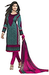 VSS Collections Women's Synthetic Unstitched Dress Material(1057,Multi-Color)
