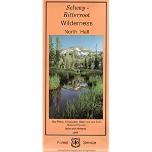 Selway Bitterroot Wilderness Area Map (North Half) - Waterproof