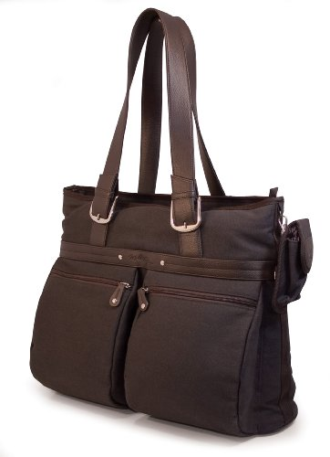 Mobile Edge 16-Inch PC/17-Inch MacBook ECO Friendly Laptop Tote (Brown)