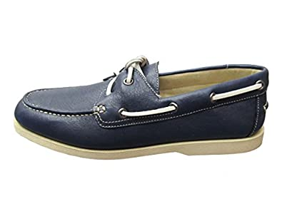 Buy Rockport Seamere Mens 9.5 Navy Lea Marine by Rockport