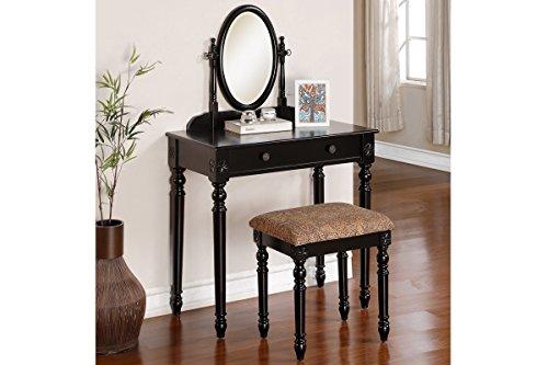 Black Vanity Table With Drawers