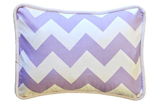 New Arrivals Accent Pillow, Zig Zag in Lavender