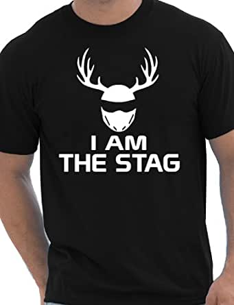 I Am The Stag Funny Stag Do/Mens T-Shirt Unisex Small Black