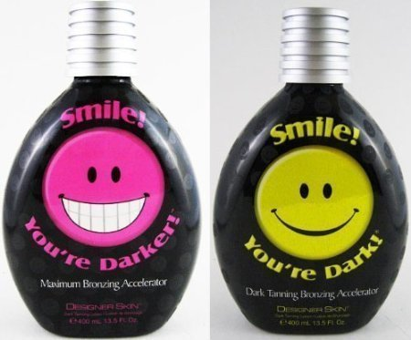 Lot of 2 Designer Skin Smile! You're Dark + Smile! You're Darker 13.5-ounce Bottles by Trifing