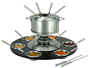 edelstahl fondueset fondue set fleischfondue 23 teile elektronik. Black Bedroom Furniture Sets. Home Design Ideas