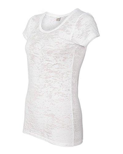 Alternative Women's Burnout Perfect Fit Crewneck T-Shirt, White, X-Large (Alternative Perfect V Neck compare prices)