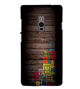 PrintVisa Corporate Print & Pattern Wooden Art 3D Hard Polycarbonate Designer Back Case Cover for One Plus Two
