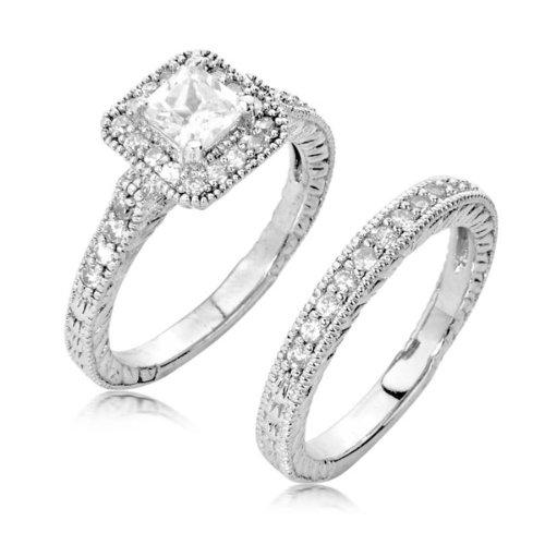 Amazoncouk cubic zirconia wedding rings Jewellery