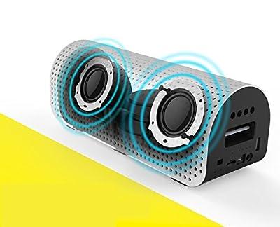 Karnotech REMAX Bluetooth Speaker Portable Desktop Multi-Function Power Bank Bluetooth 4.0 Wireless Outdoor PC Car Subwoofer Speakers, RB-HI Silver