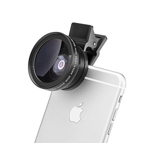 Mactrem High Definition Super Digital Camera Lens Kit for iPhone 6s / 6s Plus / 6 / 5s, Smart Phone- 0.45x Wide Angle Lens, 12.5x Macro Lens