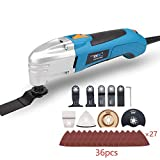 NEWONE 1.8A 6 variable speed oscillating multi tool kit with 36 accessories saw blade and sand paper (kti 2: with 36pcs accessories)